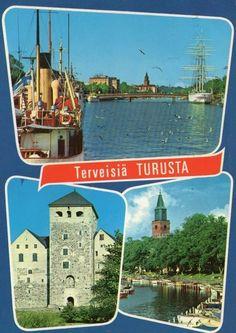 Postcard Turku, Finland 1974