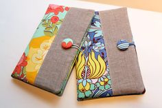 The Cottage Home: Fabric Portfolio and Notepad Holder Tutorial