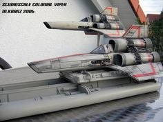 Space Fighter, Fighter Jets, Lightsaber Parts, Battlestar Galactica 1978, Sf Movies, X Wing Miniatures, Sci Fi Spaceships, Sci Fi Models, Star Fox