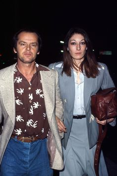 Anjelica Huston and Jack Nicholson 1983