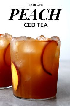 Perfectly sweet and delicious homemade peach iced tea made with fresh peaches and a tasty blend of Earl Grey and English Breakfast tea. Raspberry Iced Tea, Peach Ice Tea, Yummy Drinks, Mocktail Drinks, Cocktails, Best Iced Tea Maker, Hot Tea Recipes, Homemade Iced Tea, English Breakfast Tea