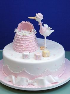 Cute cake for a baby shower