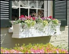 Shop various Vinyl Window Box styles and sizes. Vinyl Flower Boxes are attractive and easy to mount. Plant with the flowers you love for custom Vinyl Window Boxes. Fall Window Boxes, Cape Cod Style House, Window Planter Boxes, Garden Windows, Garden Yard Ideas, Exterior Makeover, Flower Boxes, Porch Decorating, Curb Appeal