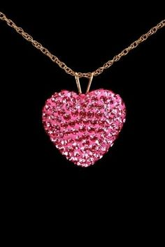 Pink Love, Pretty In Pink, Heart Jewelry, Fine Jewelry, Heart Necklaces, Diamond Necklaces, Bling Bling, Ring Armband, Pink Necklace