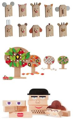 wooden toy animals and puzzles / Susha Toys Holzspielzeug Tiere und Rätsel / Susha Toys Imagination Toys, Making Wooden Toys, Montessori Toys, Wooden Dolls, Learning Toys, Crafty Projects, Design Projects, Diy Toys, Children's Toys