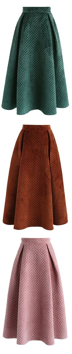 ff74ebe238 Fancy Sheen Quilted Velvet Skirt in Green/Caramel/Pink Xmas Jokes,  Christmas Jokes