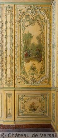 Sculpted and painted boiserie~ the Queen's inner apartments