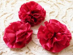 Oksana Plus Hobbies: DIY: Carnations Hair Clips (Сделай сам: Заколки для волос)