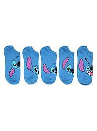 HOTTOPIC.COM - Disney Lilo & Stitch Faces No-Show Socks 5 Pair