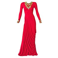 ALEXANDER MCQUEEN EGYPTIAN BEADED GOWN at 1stdibs