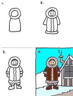 22 Eskimo by traqair57, via Flickr. How to draw an Eskimo or kid in snow.