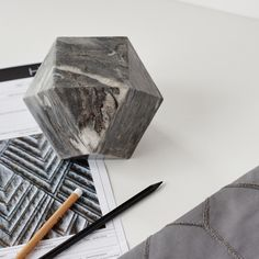 Modern with a hint of luxe. Grey marble is a must right now.