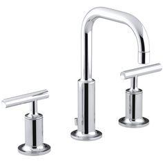 Kohler Purist Widespread Bathroom Sink Faucet with Low Lever Handles and Low Gooseneck Spout & Reviews | Wayfair