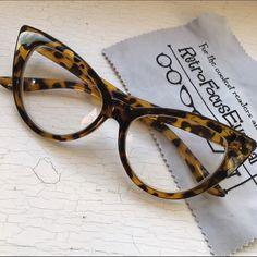 8e294310fe NEW +1.00 Reading Glasses Pointy Cat Eye Tortoise New +1.00 power reading  glasses.