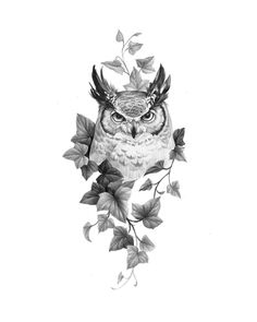 Owl Tattoo Drawings, Tattoo Sketches, Dope Tattoos, Body Art Tattoos, Owl Tattoo Design, Tattoo Designs, Island Tattoo, Saved Tattoo, Alien Tattoo