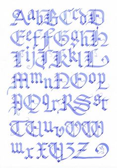 Blackletter #blackletter #capitals #lowercase