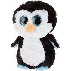 TY Beanie boos waddles penguin plush ($16) ❤ liked on Polyvore featuring accessories, hats, ty beanie, plastic hats and beanie hats