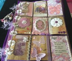 Pink and Purple Pocket Letter by Renee