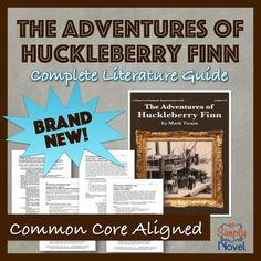 Adventures of Huckleberry Finn Lesson, Activity, Assessment Bundle NEW!!