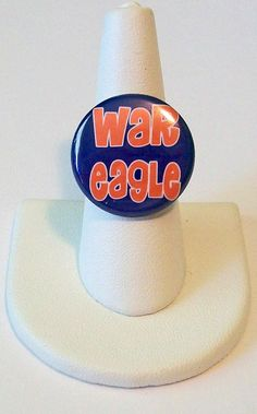Adorable War Eagle Auburn Tigers Fashion Ring by purpletreasures, $5.00