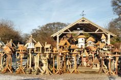 Bird Tables For Sale and Rustic Garden Furniture by Bird Table Heaven near Telford Shropshire including custom designed nest boxes garden woodwork, Dovecotes, Decking, England UK Bird Tables, B 13, Bird Baths, Heaven, Yard, Houses, Crafty, House Styles, Home Decor
