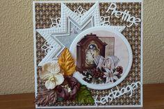 Voorbeeldkaart - Kerstkaart - Categorie: Hand-Snijtechnieken - Hobbyjournaal uw hobby website
