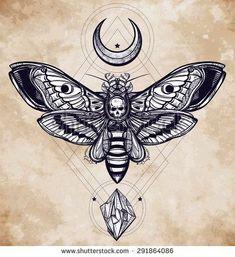 Ideas Of Cool Geometric Tattos Mandala Tattoo Design, Dotwork Tattoo Mandala, Tattoo Designs, Tattoo Abstract, Kunst Tattoos, Bild Tattoos, Kadu Tattoo, Tattoo Geometrique, Skull Moth