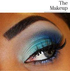 Blues eye shadow
