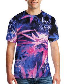 44989f4d3a6c 3d marijuana skull t shirt for men short sleeve hip hop tee 3d T Shirts