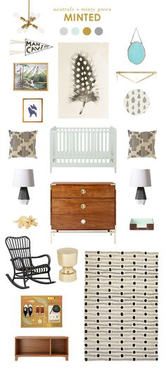 baby room ideas, with a little more navy Baby Bedroom, Baby Boy Rooms, Kids Bedroom, Room Baby, Bedroom Mint, Bedroom Ideas, Baby Room Neutral, Nursery Neutral, Nursery Grey