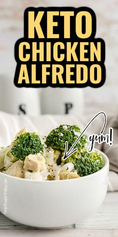If you want an easy keto dinner that is bursting with flavor, try this Keto Chicken Alfredo! It even uses keto noodles to mirror the authentic flavor of chicken alfredo. This low carb chicken alfredo recipe is perfect as a low carb dinner recipe too. Suitable for the low carb diet or keto diet. Only 5g net carbs per serving. Enjoy! Healthy Low Carb Recipes, Low Carb Dinner Recipes, Keto Dinner, Healthy Meals, Keto Recipes, Cooking Recipes, Keto Chicken, How To Cook Chicken, Carbs In Vegetables