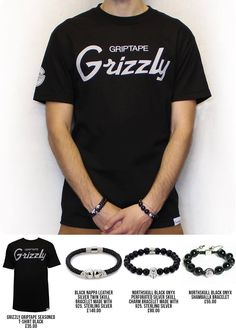 Accessorize it ! Check out this classic combo Grizzly tee + Northskull Bracelet  GRIZZLY GRIPTAPE SEASONED T-SHIRT BLACK £35.00 BLACK NAPPA LEATHER/ SILVER TWIN SKULL BRACELET MADE WITH 925. STERLING SILVER £140.00: NORTHSKULL BLACK ONYX  PERFORATED SILVER SKULL CHARM BRACELET MADE WITH 925. STERLING SILVER £80.00: NORTHSKULL BLACK ONYX SHAMBALLA BRACELET £55.00  more in store http://www.everythinghiphop.com/  #outfit #menswear #northskull #tshirt #streetwear #jewellery