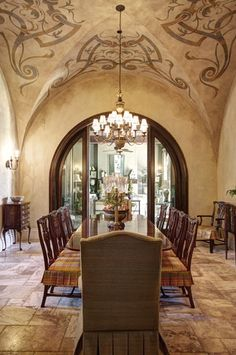 Mediterranean Dining Room Design, Pictures, Remodel, Decor and Ideas - page 34