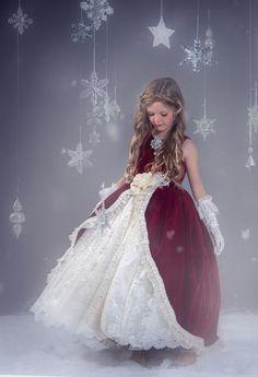 """""""Crimson Belle""""... A Rich Velvet Flower Girl Dress"""