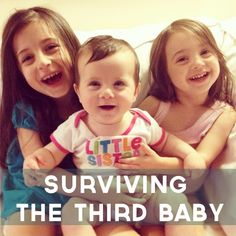 The truth about transitioning from two kids to three - and how to survive it. @Jayne Monson