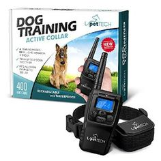 """Sale:$29.99 Remote-Controlled Dog Shock Collar """"Lifetime Replacement Guarantee"""" - 1200 FT Range - 4 Modes (Shock, Light, Vibration & Beep) Safe For All Size Dogs (10Lbs - 100Lbs) - Rechargeable & Waterproof"""