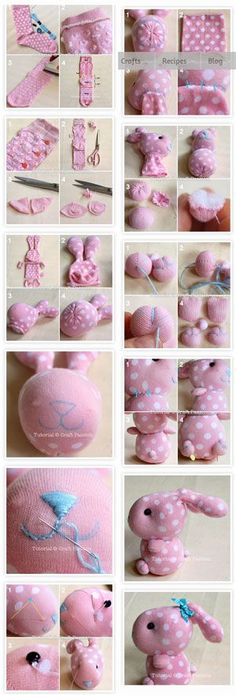 Sewing Toys, Sewing Crafts, Sewing Projects, Diy Arts And Crafts, Fun Crafts, Diy For Kids, Crafts For Kids, Sock Bunny, Sock Crafts