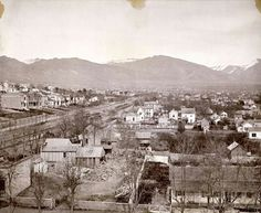 Salt Lake City around 1885 - street is South Temple provided by Richard Salt Lake County, Salt Lake City Utah, Historical Photos, Vintage Photos, Paris Skyline, Temple, The Past, Slc, History