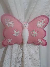 Resultado de imagem para prendedor de cortina borboleta passo a passo