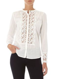 barbarasangi from : lace insert blouse from dp's Blouse Patterns, Blouse Designs, Casual Outfits, Fashion Outfits, Womens Fashion, Sewing Blouses, Batik, Blouse Styles, Mode Inspiration