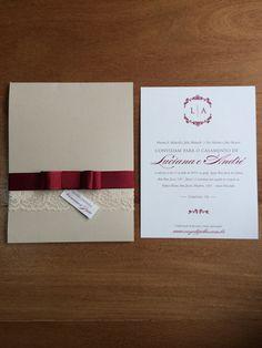 Convite de casamento bordô | vinho | burgundy wedding invitation