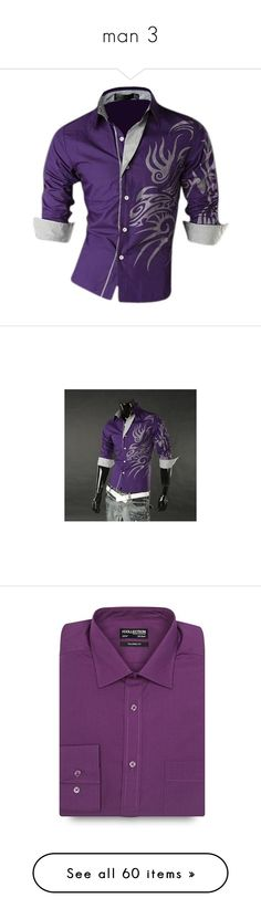 """""""man 3"""" by smile2528 ❤ liked on Polyvore featuring men's fashion, men's clothing, mens clothing, slim fit mens clothing, mens apparel, men's shirts, men's casual shirts, mens purple shirt, mens tailored shirts and mens casual button down shirts"""