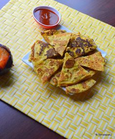 Roti Sandwich Bites (makes 2): 4 Tbsp Chickpea Flour, 2 Tbsp Carrots grated, Salt, Onion Powder, Garlic Powder, Chaat Masala