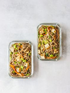 In 20 minutes, this soba noodle bowl with creamy peanut sauce is ready. of plant protein keeps you fueled all afternoon. Tofu Recipes, Cooking Recipes, Healthy Recipes, Healthy Food, Protein Lunch, High Protein, Peanut Sauce Noodles, Vegan Meal Prep, Vegan Meals