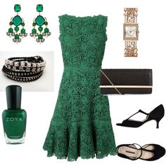 """What to Wear to a Wedding Emerald"" by lynda-seer on Polyvore"