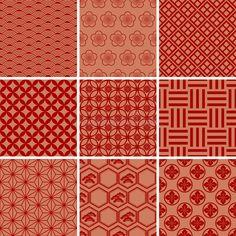 Chinese Patterns, Japanese Patterns, Japanese Prints, Japanese Fabric, Japanese Art, Chinese Fabric, Kimono Pattern, Red Pattern, Pattern Art