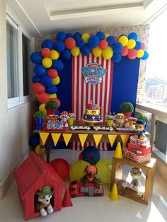 Paw Patrol Birthday Theme, 2nd Birthday Party Themes, Birthday Party Decorations, 3rd Birthday, Paw Patrol Party Decorations, Paw Patrol Invitations, Sonic Party, Paw Patrol Cake, Paper Crafts For Kids