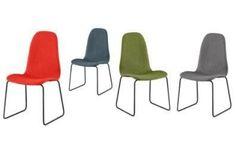 Diamond Finn Dining Chair SLPCDC11*Set of 2 ChairsMaterials:Coral Fabric / Metal LegsGrey Fabric / Metal LegsGreen Fabric / Metal LegsDenim Fabric / Metal LegsDimensions: 17 x 17 x 33