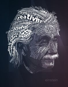 Albert Einstein typography poster.