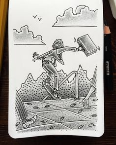 Happy Friday! #illustration #nathandouglasyoder